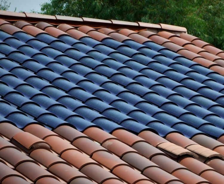 Tesla solar shingle roof tiles
